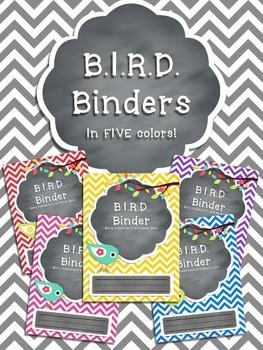 B.I.R.D. Binder **EDITABLE** Pack