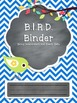 B.I.R.D. Binder **EDITABLE** Pack