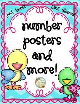 BIRD THEMED NUMBER POSTERS { with complimentary extras}