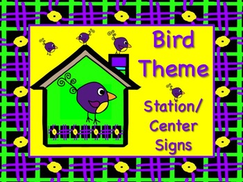 BIRD Themed Station/Center Signs Great Classroom Management! Soooo TWEET!