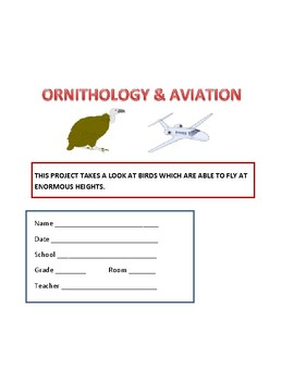 BIRDS & AVIATION: A SCIENCE PROJECT/ GRADES 5-12, MG, GIFTED & TALENTED