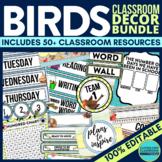 BIRD THEME Classroom Decor EDITABLE