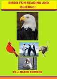 BIRDS FUN READING AND SCIENCE  (SOME SPANISH, 63 PP, CCSS)