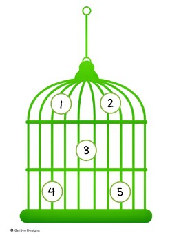 BIRDS (GREEN) COVER THE NUMBERS (IN ENGLISH AND MYANMAR)