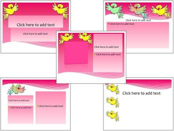 End of the year activities - Birds - 3 Editable PowerPoint