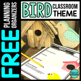 BIRDS Theme Decor Planner by Clutter Free Classroom