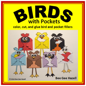 BIRDS with Pockets Color Cut Paste
