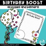 Birthday Banner and Writing Activities