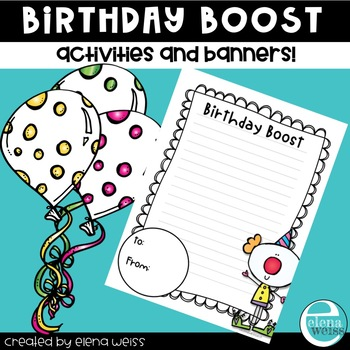 Birthday Banner and Writing Activities