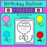 BIRTHDAY BALLOON - FREEBIE