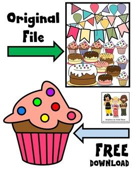 BIRTHDAY CAKE CLIP ART FREEBIE * CUPCAKE CLIP ART