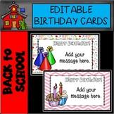 Editable Party Birthday Cards
