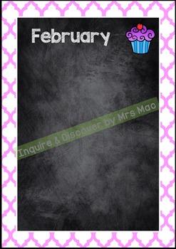 Back To School - BIRTHDAY CHART - Classroom Decor - Posters