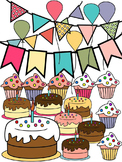 BIRTHDAY CLIP ART * CAKE * BANNERS * BALLOONS