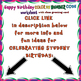 BIRTHDAY COLOR BY NUMBER CODE - with birthday greeting card