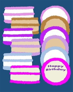 BIRTHDAY Clipart {Party Hats} ~Candles~ {Cake} 80+ Images