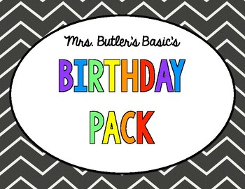 BIRTHDAY FUN PACK- Coupons, Gifts, Certificate, Badge
