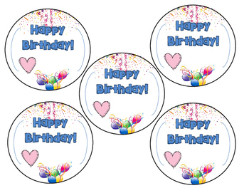 BIRTHDAY GIFT FROM TEACHER to students- BIRTHDAY LABELS