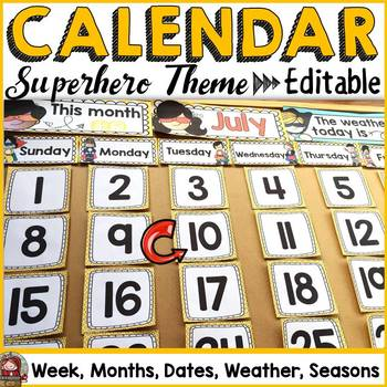 CALENDAR & BIRTHDAY PACK (superhero theme)