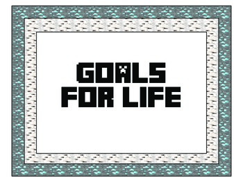 BIST Goals for Life and School Rules-Minecraft Theme