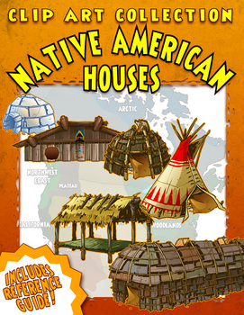 Native American Houses Clip Art