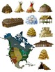 Native American Houses Clip Art