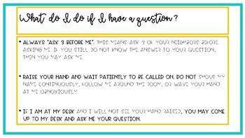BITMOJI Back to School Classroom Procedures Q & A