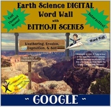 BITMOJI Earth Science DIGITAL Word Wall W, E, D, S - GOOGLE