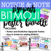 BITMOJI Notice and Note Signposts Bundle: Posters for Fiction & Nonfiction
