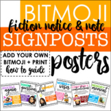 BITMOJI Notice and Note Signposts Posters for Fiction