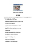 BIZARRE FOODS TRAVEL VIDEO WORKSHEET - ECUADOR