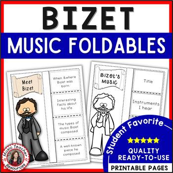 Music Listening: Music Composer BIZET: Interactive Listening Journal Foldables