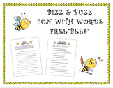 """FUN WITH WORDS FREE""""BEES"""" - (Language Arts: homophones, bee vocabulary, writing)"""