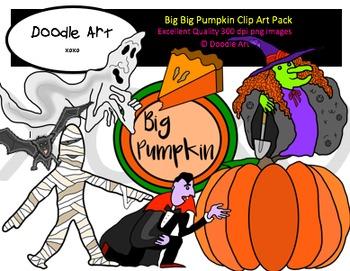 Big Big Pumpkin Clipart Pack