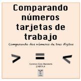Bilingual:Comparing 2 3-Digit Numbers-Place Value Task Cards-2nd Grade BUNDLE