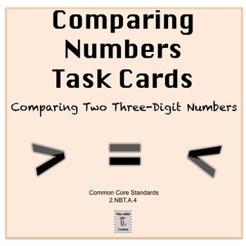 Bilingual:Comparing 2 3-Digit Numbers-Place Value Task Cards-2nd Grade BUNDLE