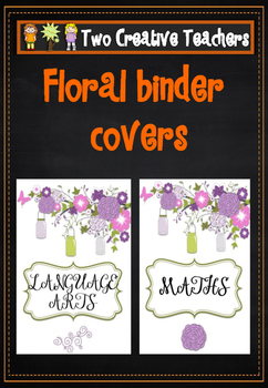 BInder Folder Covers - Floral Theme
