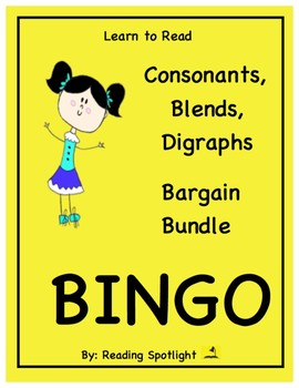 Reading Games Bargain Bundle-Consonants, Blends & Digraphs Bingo (LTR)