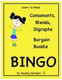 Consonants, Blends & Digraphs Bingo Bundle (LTR)(Distance