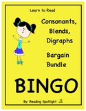 Consonants, Blends & Digraphs Bingo Bundle (LTR)