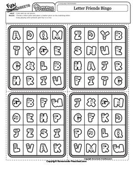 Bingo: Letter Friends
