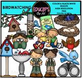 Birdwatching Clip Art Bundle {Educlips Clipart}