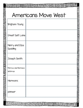 BJU Heritage Studies 3 - Chapter 8: The United States Spreads West