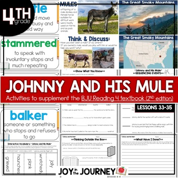 BJU Press Reading 4 (2nd ed): Johnny and His Mule