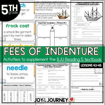 BJU Press Reading 5: Fees of Indenture