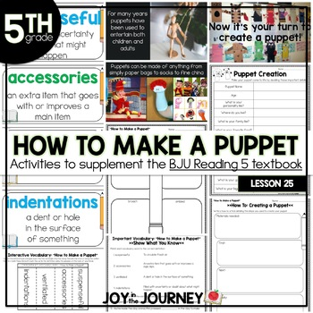 BJU Press Reading 5: How to Make a Puppet