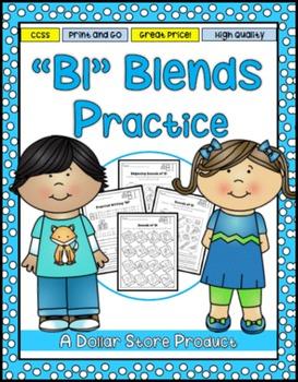 BL Blend Practice Printables