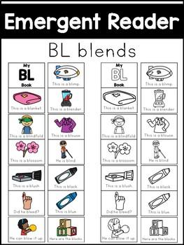 BL Blends Emergent Reader - Phonics Literacy Center