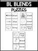 BL Blends Phonics Center:  Picture and Word Match Puzzles