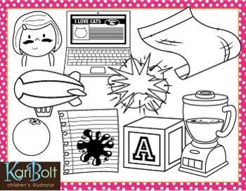 BL Blends Phonics Clip Art